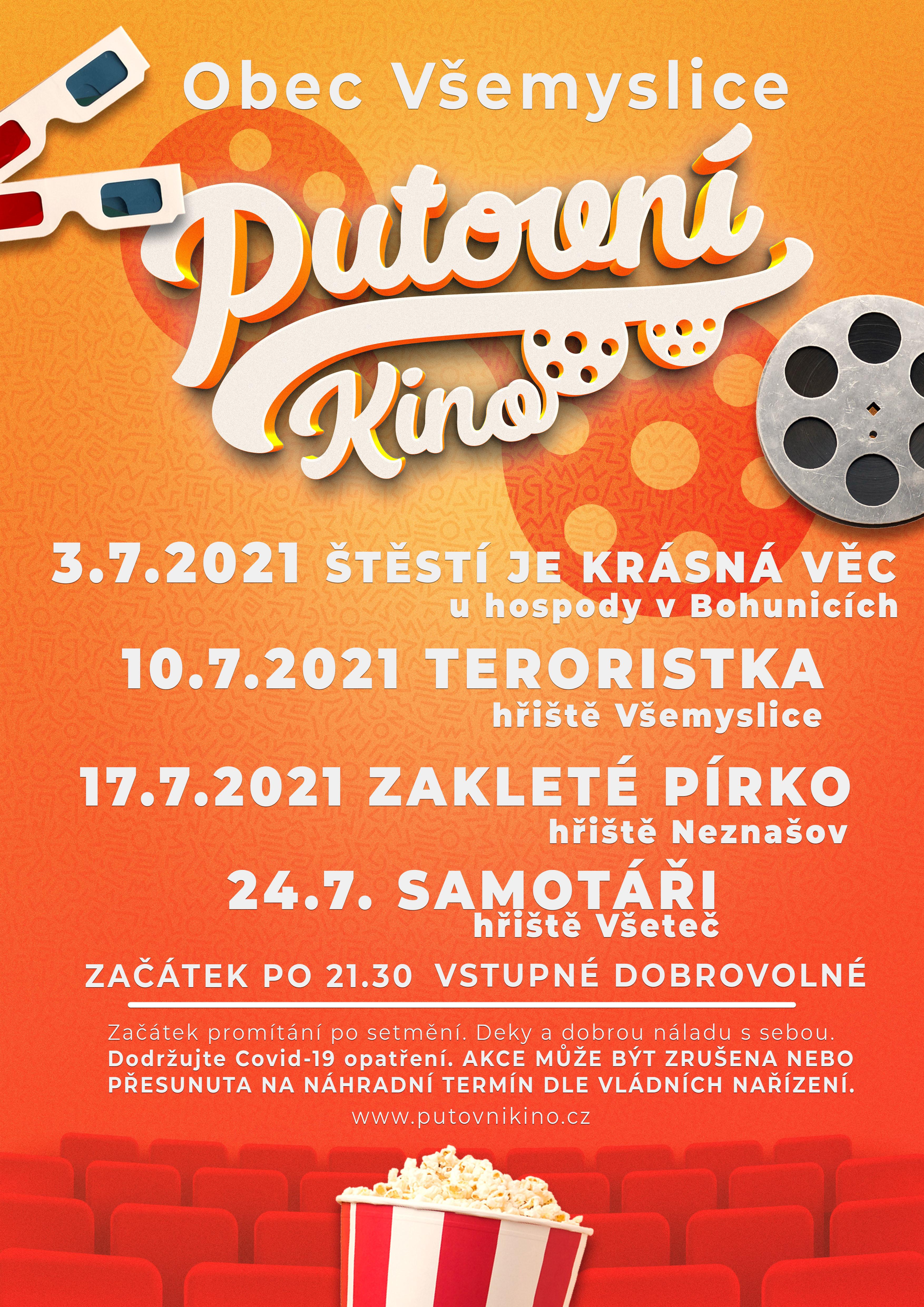 Plakát s programem letního kina