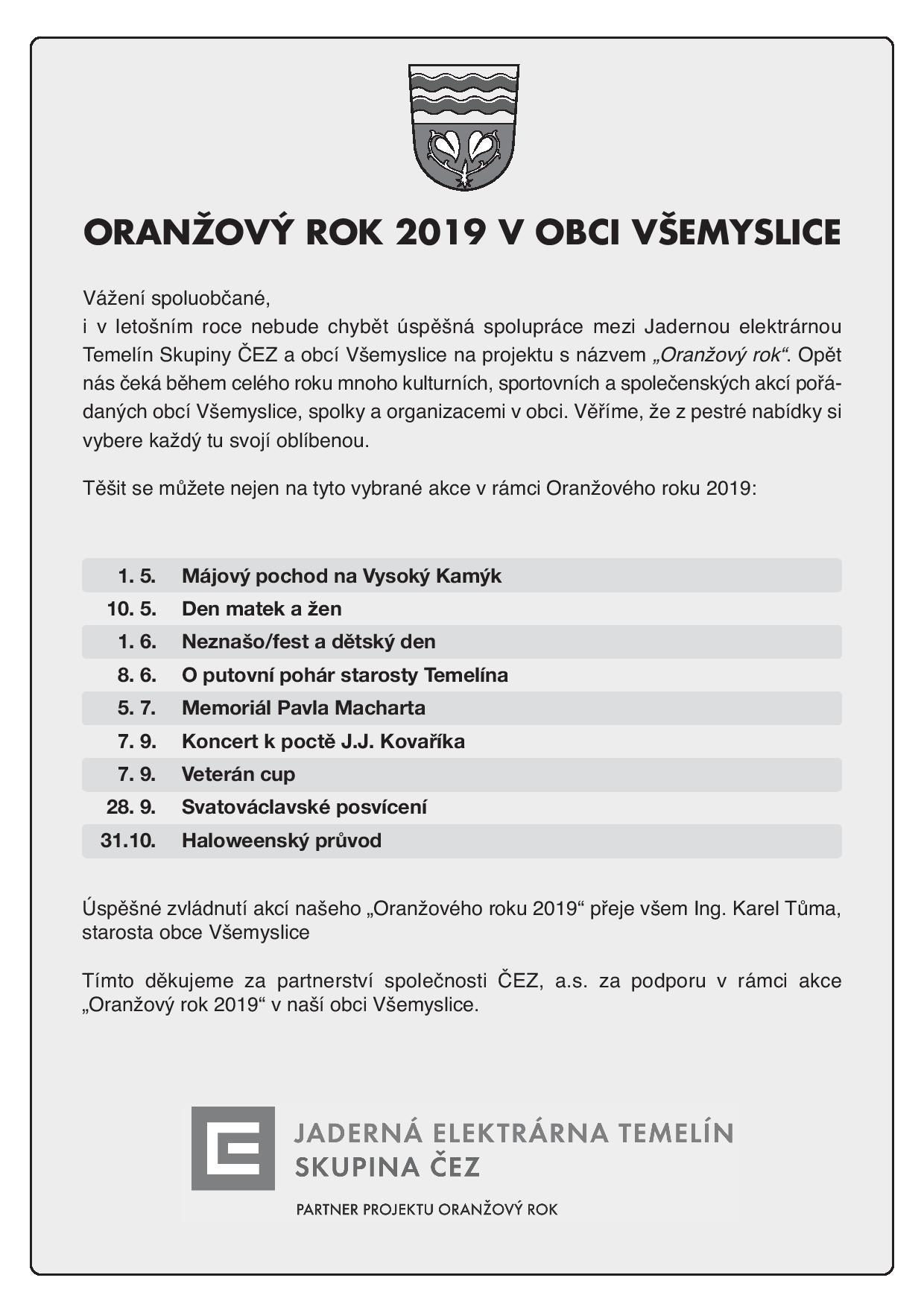Oranžový rok 2019